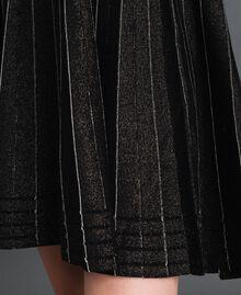 Plissee-Strickkleid mit Lurex Black Lurex Frau 192TP3302-04