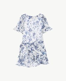 Robe imprimée Imprimé Floral Bleu Océan / Bleu Enfant GS82V2-01