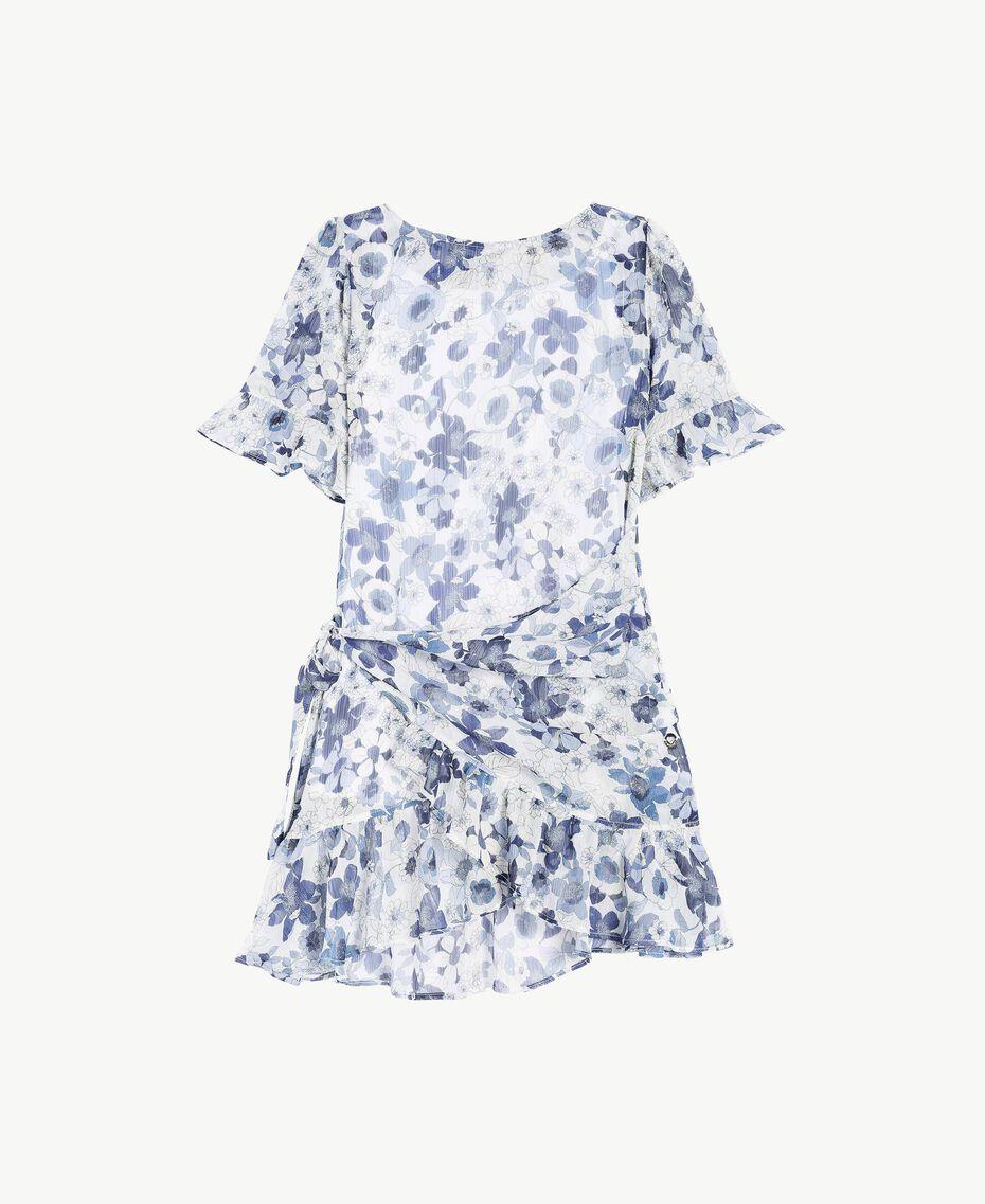 Kleid mit Print Blumenprint Ozeanblau / Azur Kind GS82V2-01