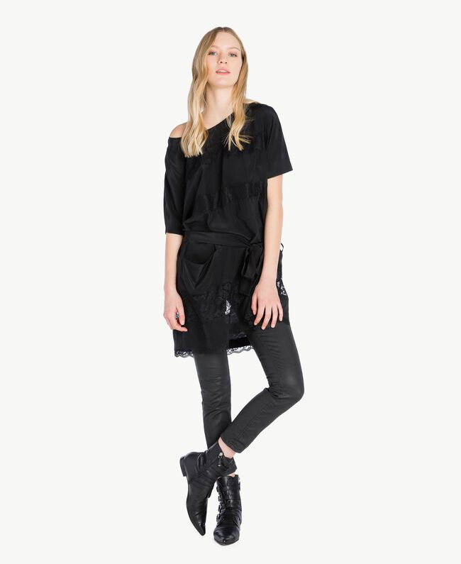 Silk tunic Black Woman PS82Z1-01