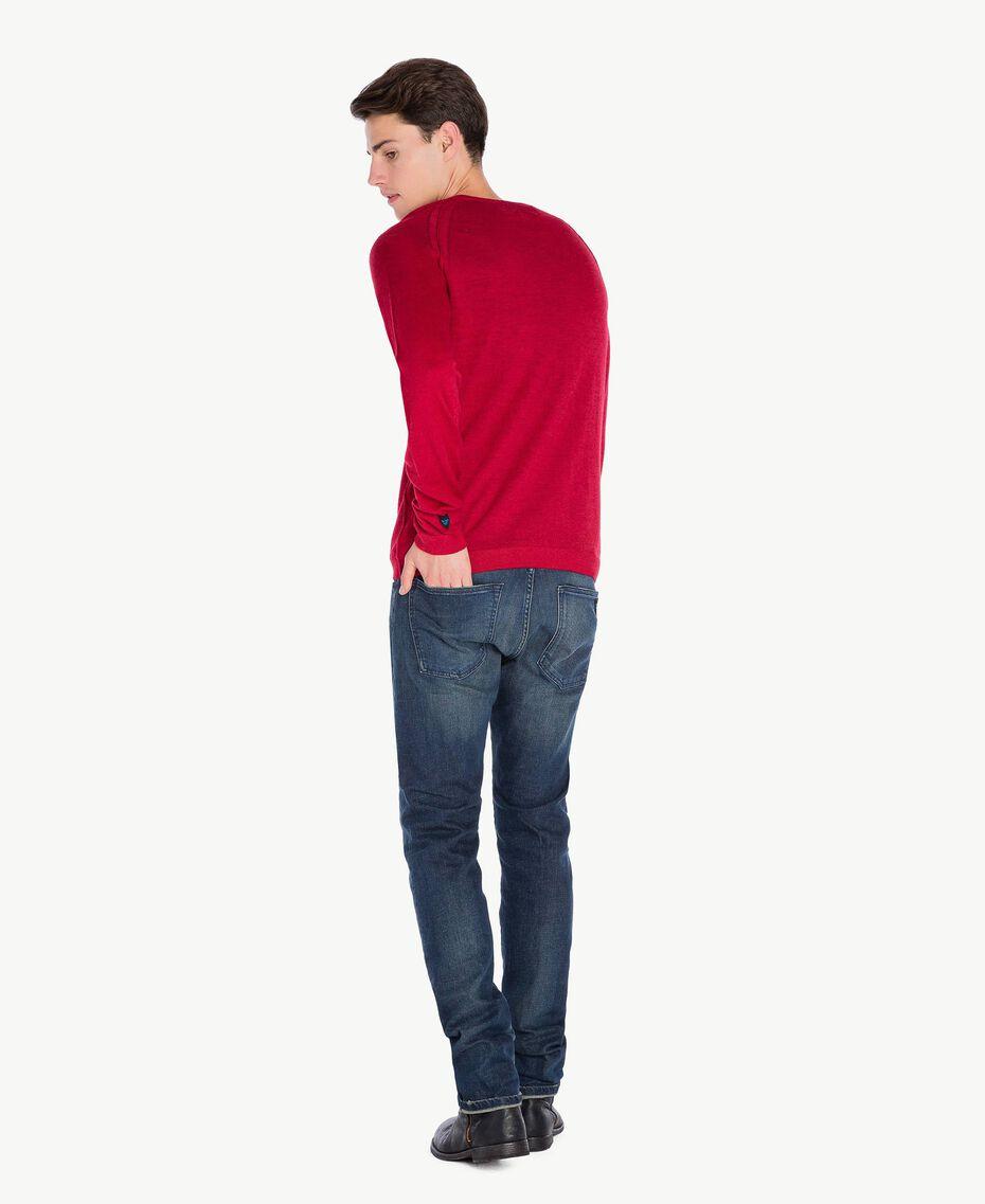 Pull laine Rouge Vénitien Mâle UA73BB-03