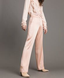 "Cady envers satin trousers ""Nude"" Beige Woman 191TP2691-02"