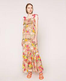 Jupe avec imprimé camouflage et floral Imprimé Hibiscus Multicolore Femme 201MT2384-02