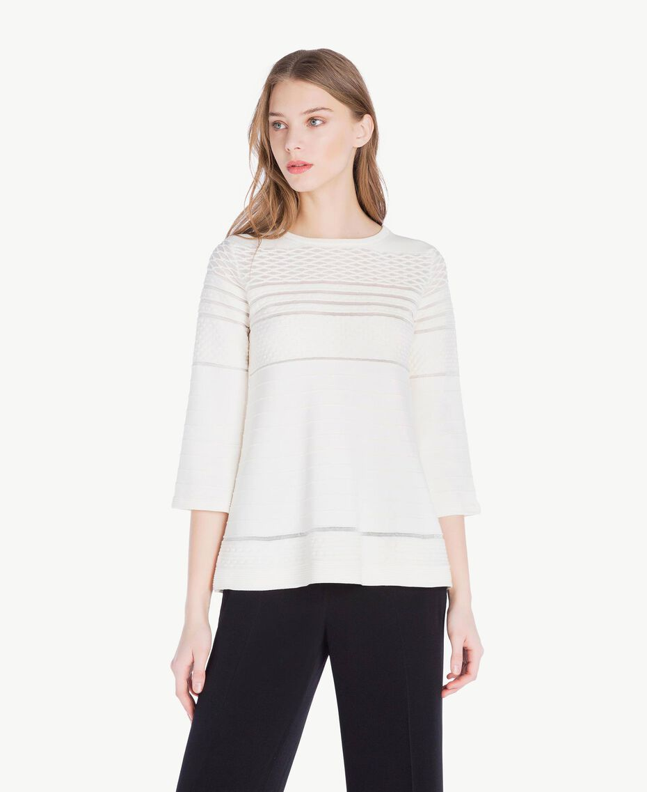 Viscose top Light Ivory Woman PS8364-01