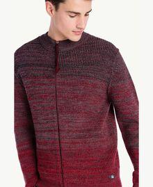 Cardigan laine Rouge Dégradé UA73B2-04