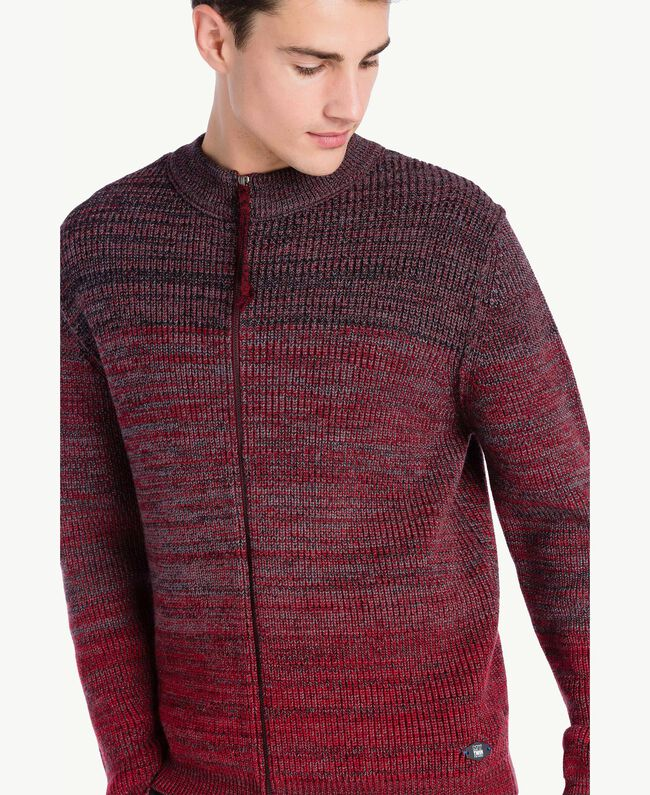 Cardigan aus Wolle Dégradé-Rot Männlich UA73B2-04