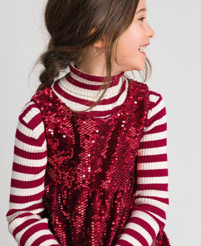 Robe en velours avec sequins Rouge Ruby Wine Enfant 192GJ2091-04
