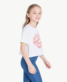 T-shirt Vichy Stampa Vichy/ Bocciolo Enfant GS82ZE-03