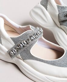 Running shoes with stones White Cream Woman 191MCP03C-05