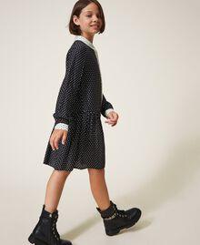 "Star shirt dress Two-tone Black / ""Snow"" White Star Print Child 202GJ2630-02"