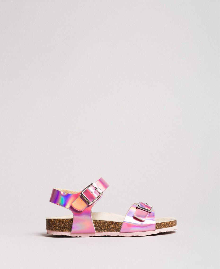 "Beschichtete Leder-Sandalen ""Crystal Pink"" Kind 191GCJ162-03"