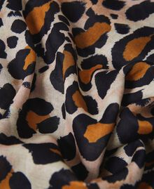Animal print scarf with lace Animal Print Woman 202LL4FTT-02