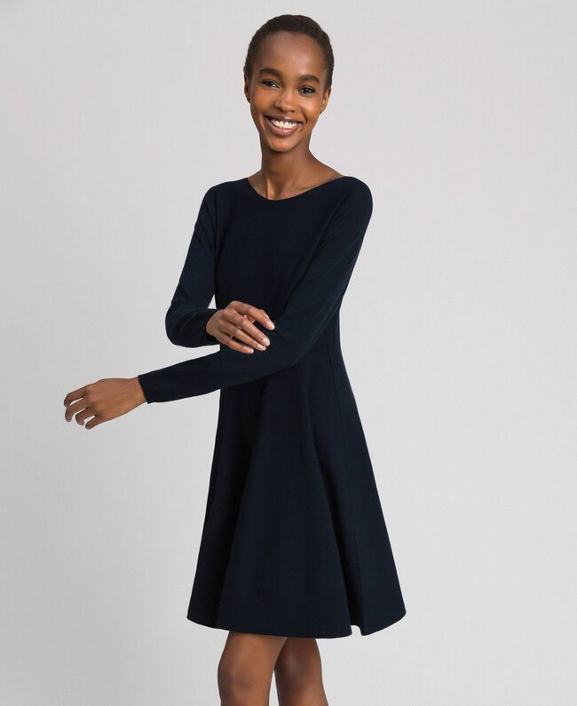 Knitted full dress Midnight Blue Woman 192TT3281-01