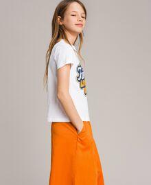 T-Shirt aus Baumwolle mit mehrfarbigem Aufdruck Weiß Kind 191GJ2320-02