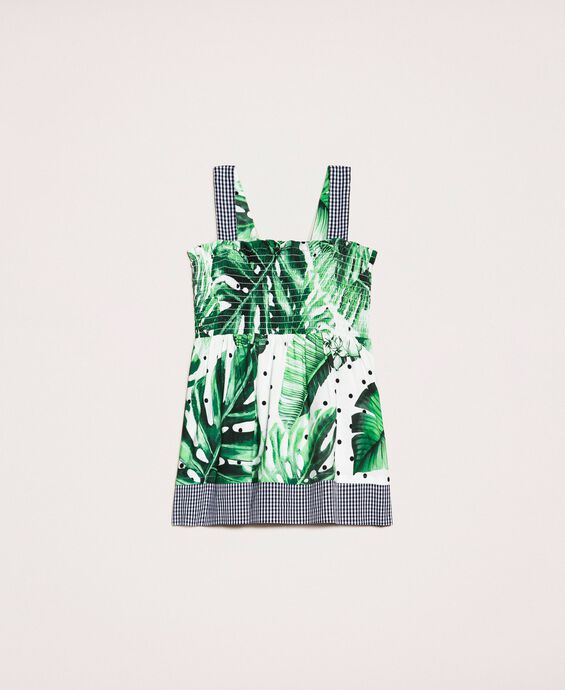 Tropical print top-skirt