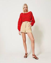 "High-Waist-Shorts ""Cuban Sand""-Rosa Frau 211TT2073-0T"