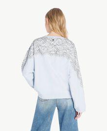 Sweatshirt aus Spitze Topaz Hellblau Frau JS82H1-03