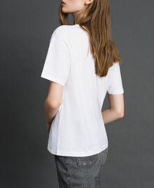 T-shirt avec imprimé papillon et logo Blanc Femme 192TP2712-02