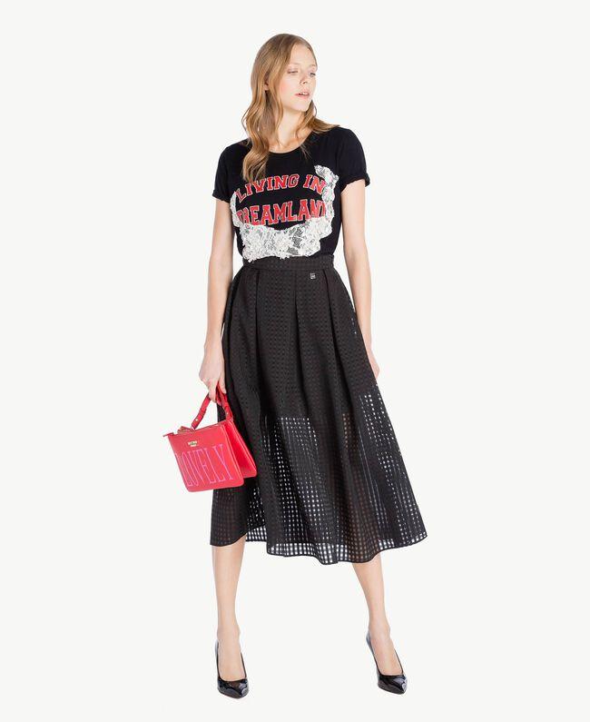 Jupe jacquard Noir Femme YS82GQ-05