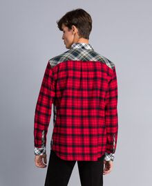 Camicia in flanella tartan Multicolor Plaid Flannel Uomo UA82EA-02