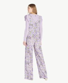 Printed dungarees All Over Violet Print Woman PS821R-03