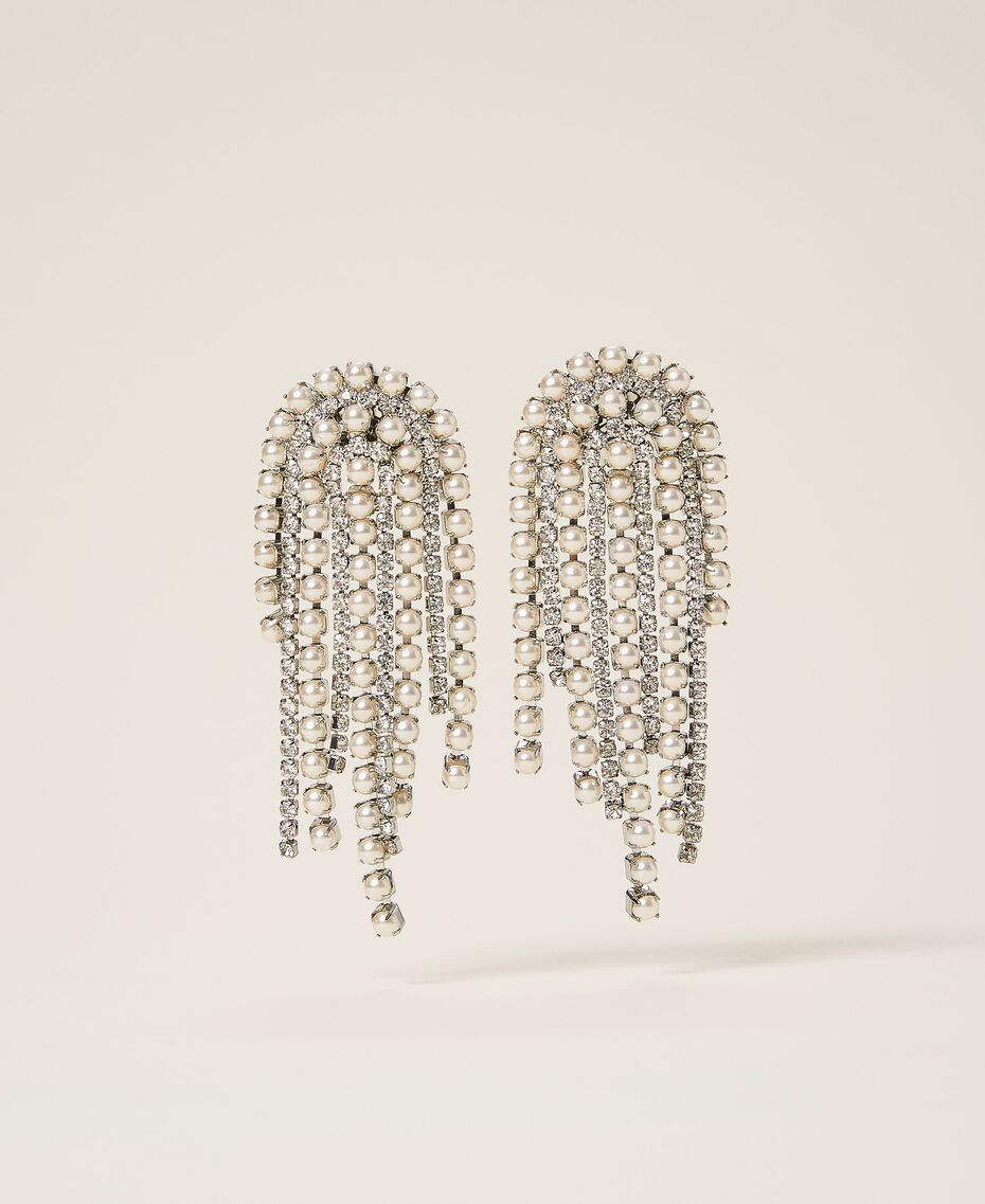 Boucles d'oreilles avec strass et perles Cristal Femme 202TA4312-01