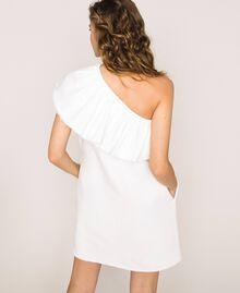 "White denim dress with ruffles ""Ice"" White Woman 201MT2365-04"