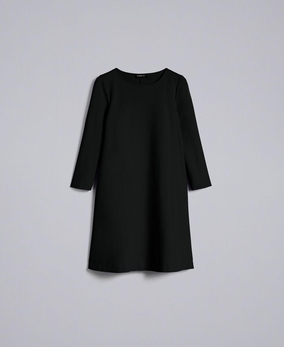 A-line Milan stitch dress Black Woman PA821U-0S