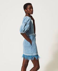 Denim dress with feathers Ocean Denim Woman 211TT2360-03