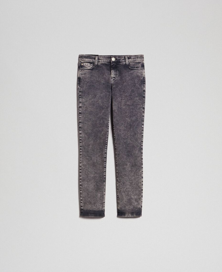 Push-up-Jeans im Five-Pocket-Stil Denimschwarz Frau 192MT2210-0S