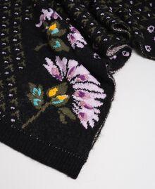 Écharpe jacquard avec fleurs brodées à la main Jacquard Fleurs Multicolore Femme 192TO537A-02