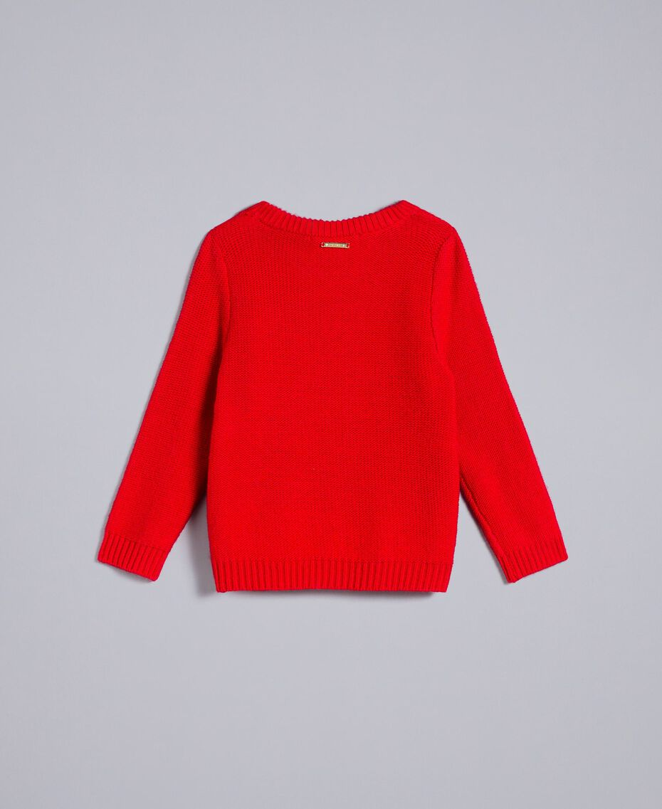 Jumper with hearts Poppy Red Child FA83DB-0S