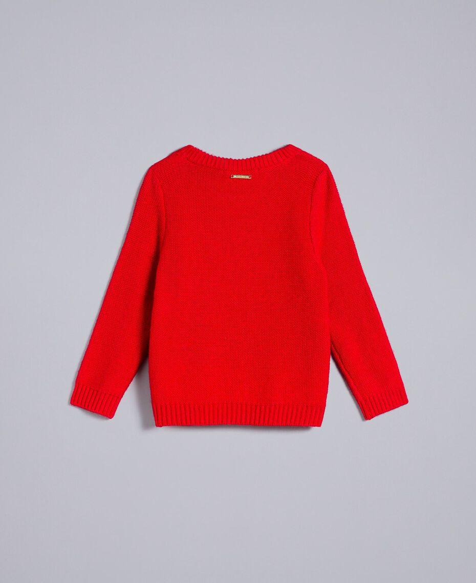 Трикотажная кофта с сердечками Красный Мак Pебенок FA83DB-0S