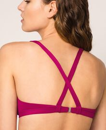 Logo triangle bikini top Hot Fuchsia Woman 201LBMH33-04