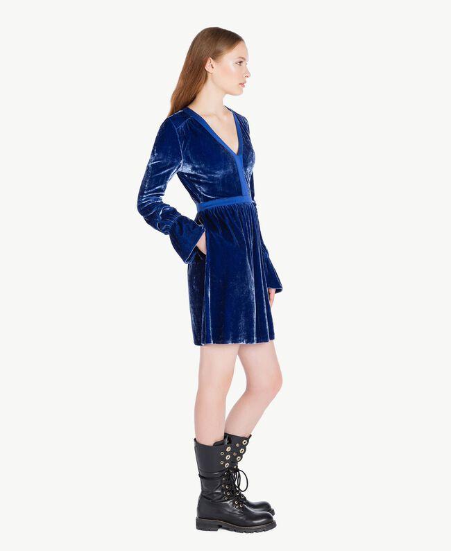 Abito velluto Blu Blueprint TA721C-01