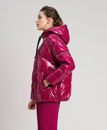 Short quilted puffer jacket with real down Beet Red Woman 192TP2500-05
