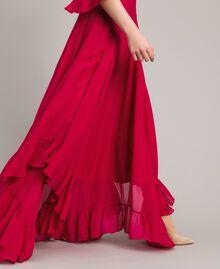 """Robe longue de georgette Fuchsia """"Anémone"""" Femme 191TP2123-04"""