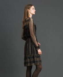 Lurex lace dress Black Woman 192TT2363-02