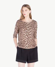 Pullover mit Animalier-Print Leopardenprint Frau PS83LE-01