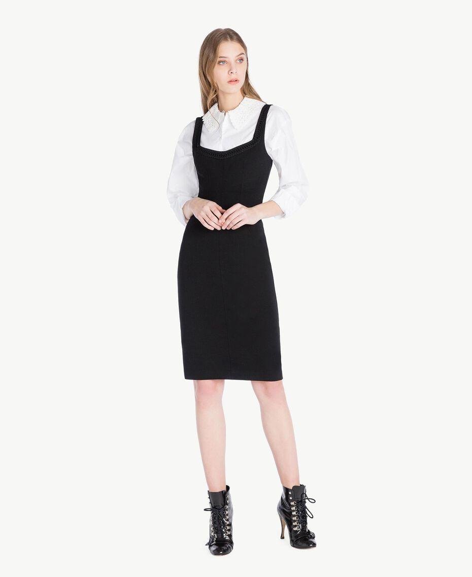 Robe fourreau Noir Femme PS828C-01