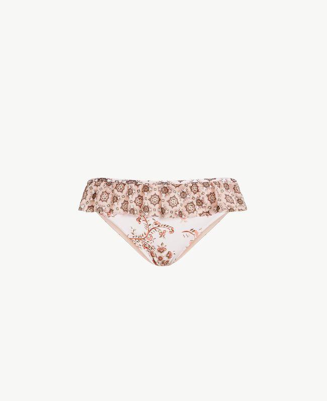 Bikinihose mit Prints Patchprint Vegas Pink Frau BS8A99-01