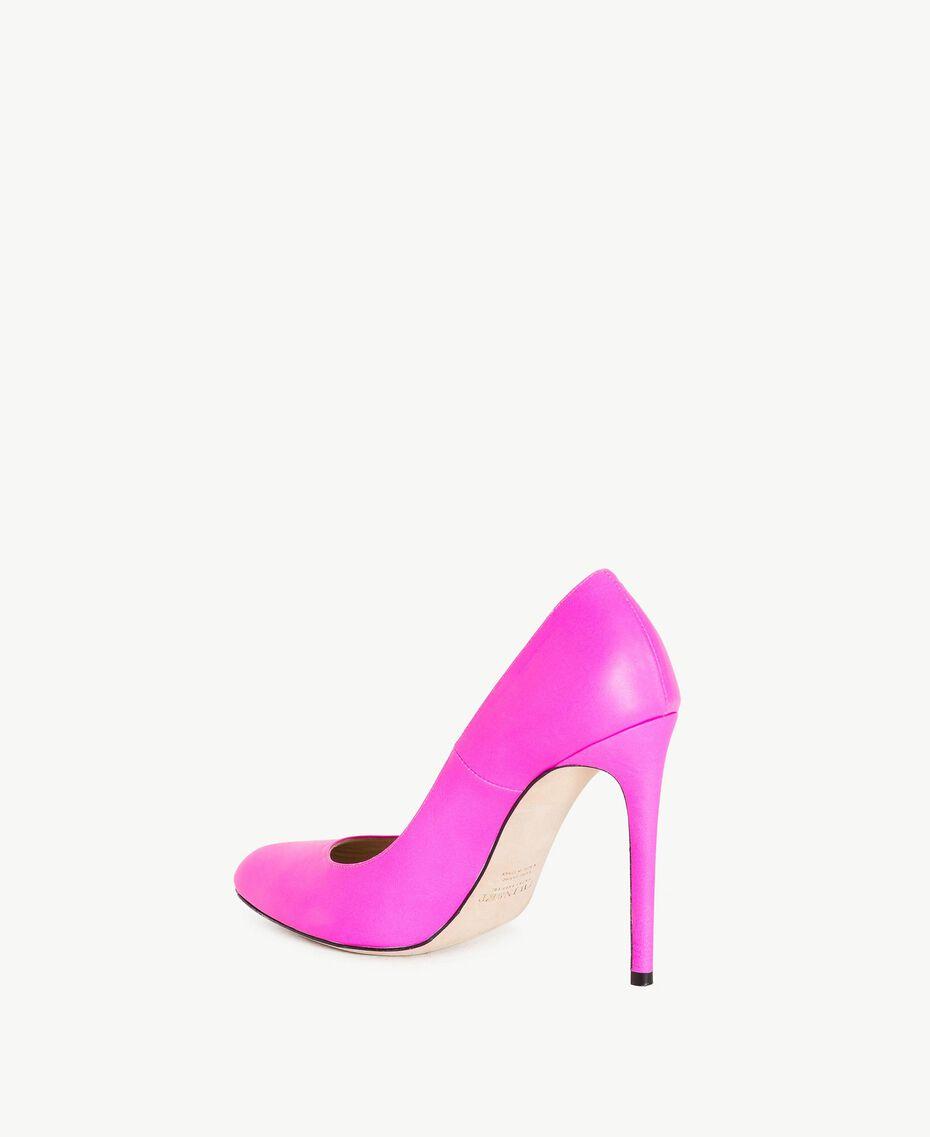 TWINSET Leather court shoe Hydrangea Pink Woman CS8PD1-03