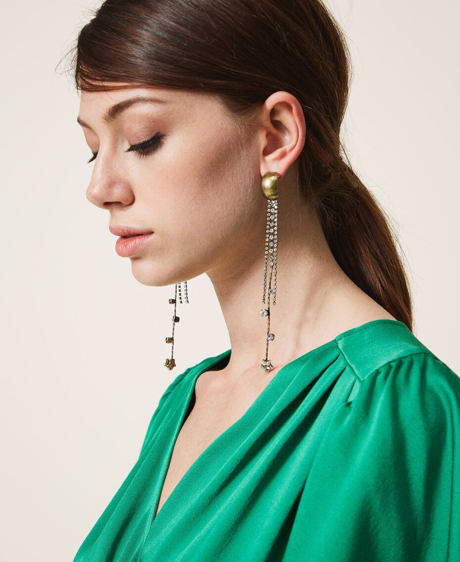 Boucles d'oreilles avec strass et chatons Cristal Femme 202TA4300-0S