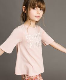 Jersey T-shirt with embroidery Blossom Pink Child 191GJ2032-02