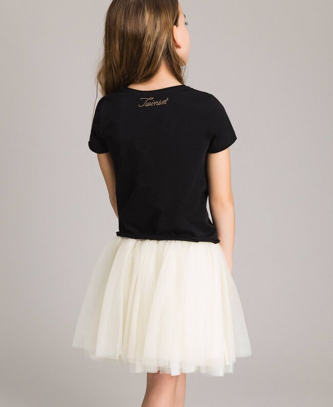 Tulle skirt Pale Cream Child 191GJ2700-03