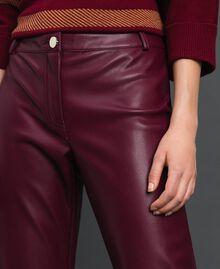 Pantalon cigarette en similicuir Rouge Violet Femme 192LI2EBB-02