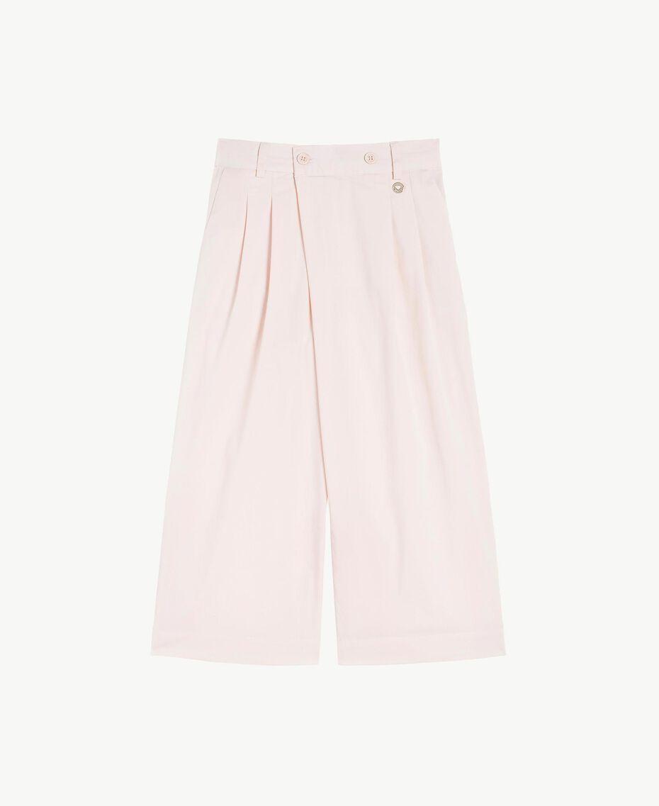 Pantalon popeline Rose Bouton Enfant GS82QQ-01
