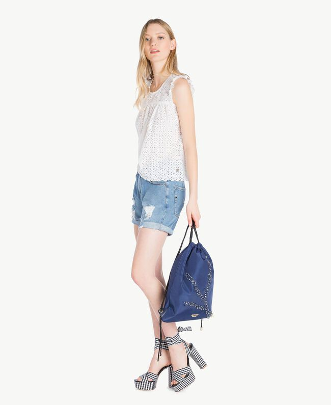 Denim shorts Denim Blue Woman YS82Q7-05