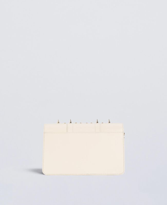 Studded clutch bag Ivory Woman OS8TLB-03