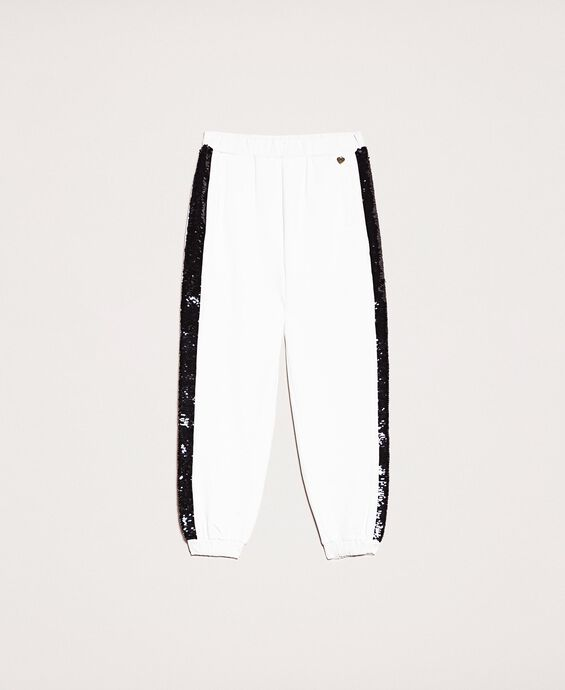 Joggers with sequins